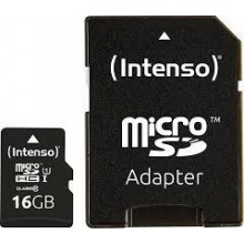 MEMORY MICRO SDHC 16GB UHS-I/W/ADAPTER 3423470 INTENSO